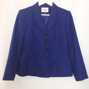 LeSuit blue blazer size 8P NWOT